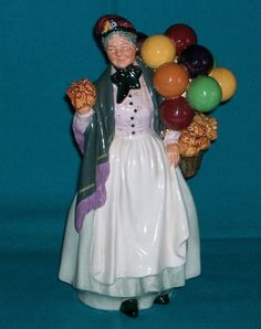 Vintage Royal Doulton BIDDY PENNYFARTHING Balloon Lady Figurine. SORRY, THIS IS SOLD