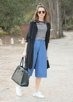 Elegant Summer Outfits, Summer Dress Outfits, Casual Chic, Denim Culottes, Mini Copper, Aesthetic Look, Ootds, Japanese Fashion, Plus Size