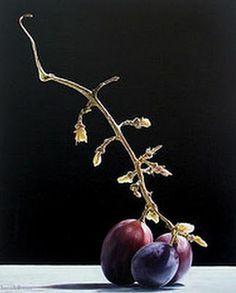 Pintura a Óleo: Quadro com uvas; hiperrealismo de Emanuele Dascanio.