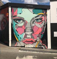 Nova dead in brussels, belgium, 2017 murals street art, street art, mura Graffiti Murals, Murals Street Art, 3d Street Art, Street Art Graffiti, Mural Art, Wall Art, Mural Floral, Urbane Kunst, Black And White Painting