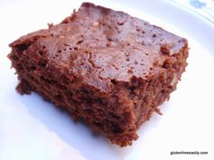 """gluten-free dairy-free honeybear brownies. one comment: """"these brownies are amazing! I don't know why I'm surprised, this has become my GO TO site for GF/CF recipes that my son and I can eat but that satisfy (or more than satisfy) my """"normal"""" family, friends, coworkers, etc."""""""