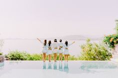 Bridesmaids | Luxury Wedding | Athens Riviera | Destination weddings in Greece