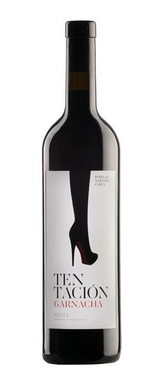 Tentación Garnacha (Medalla Plata Best Garnache of the World Bacchus Plata 2012 Medalla de Oro International Wine Guide Wine Bottle Design, Wine Label Design, Wine Bottle Labels, Liquor Bottles, Beer Labels, Beverage Packaging, Bottle Packaging, Coffee Packaging, Food Packaging