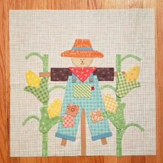 I have to sew all the appliques down, add the embroidery, and trim him up. Barn Quilt Patterns, Applique Patterns, Applique Quilts, Farm Animal Quilt, Farm Quilt, Small Quilts, Mini Quilts, Quilting Projects, Sewing Projects