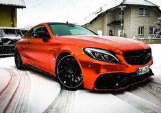 Mercedes-Benz C63S AMG/////snowy Beast.