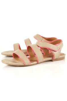 HIGHLIGHT Patent Sandals - StyleSays