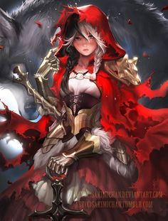 Red Hood, Little Red Riding Hood artwork by Sakimichan. Fantasy Girl, Chica Fantasy, Fantasy Characters, Female Characters, Anime Characters, Art Manga, Anime Art, Character Inspiration, Character Art