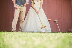 Wedding croquet.  Wedding Photography.  Vis Photography.