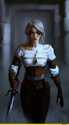 vombavr,Ciri,The Witcher,Ведьмак, Witcher, ,Игры,game art