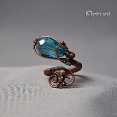 Adjustable ring wire jewelry copper ring wire ring gift by Artual