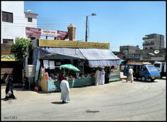 Edfu in southern Egypt Market Road