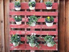 diy pot plant wall - pallet