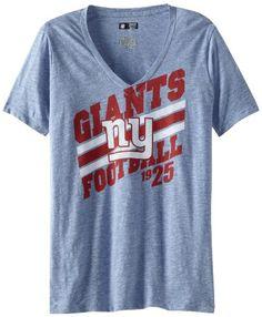 2a48a0168 Amazon.com   NFL New York Giants Victory Play IV Women s V-Neck T-Shirt