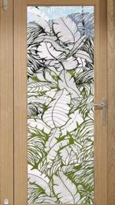 Amazon.com: Generic Premium Decorative No Glue 3D Static Privacy Window Film  For Bathroom Bedroom Office Sliding Glass Door Window Cling With Squeeu2026