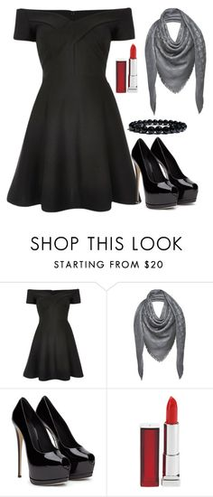 """""""LBT- Little Black Dress"""" by lovecarabear ❤ liked on Polyvore featuring River Island, Louis Vuitton and Maybelline"""