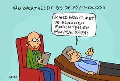 Cartoon 01/12: Van Overtveldt bij de psycholoog