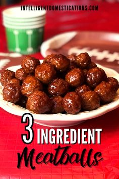 Easy recipe for making sweet and savory, jelly and chili sauce meatballs in the slow cooker. We cook the meatballs frozern and they are ready is a few short hours. Great football food, game day, appetizer for parties. These can be served on a toothpick. #appetizer #partyfood #gamedayfood Meatball Recipes, Pork Recipes, Crockpot Recipes, Holiday Recipes, Dinner Recipes, One Dish Dinners, Recipe Boards, Football Food, Game Day Food
