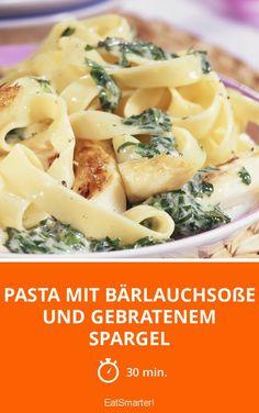 Pasta mit Bärlauchsoße und gebratenem Spargel - smarter - Zeit: 30 Min.   eatsmarter.de