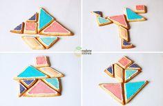 DIY culino/ludique : Petits biscuits peints façon Tangram