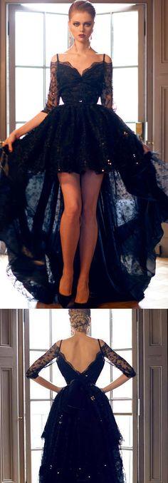 Lace Prom Dresses, Black A-line/Princess Evening Dresses, Long Black Prom Dresses, High Low Prom Dress Black Lace Evening Prom Dress,Evening Dress Long Princess Prom Dresses, High Low Prom Dresses, Prom Dresses 2017, Backless Prom Dresses, Prom Dresses With Sleeves, Black Prom Dresses, Beautiful Prom Dresses, Cheap Prom Dresses, Lace Dresses