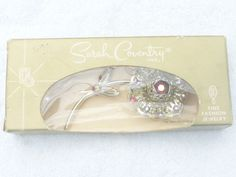 Sarah Coventry Allusion Flower brooch in original box AA445 #SarahCoventry