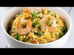 Shrimp fried cauliflower fried rice is a low-carb and grain free vegetable-based alternative to traditional Chinese stir fry that uses white rice.