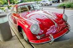 Candy red Porsche classic