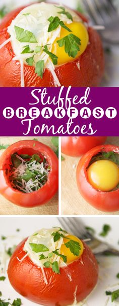 Stuffed Breakfast Tomatoes | A creative and delicious way to enjoy breakfast!