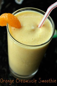 Creamsicle Smoothie from ItsYummi.com - 4 Weight Watcher Plus Points!  WHAT'S NEEDED  1 cup skim milk  1 package (6-ounce) low-fat vanilla yogurt  1/4 cup frozen orange juice concentrate  3 mandarin orange slices  1/4 teaspoon vanilla extract  5 ice cubes (more if you like really thick smoothies)