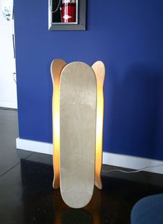Skateboard lamp. Do you see a theme yet?
