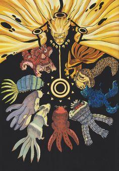 Naruto manga (the cover of Volume 60: Kurama)