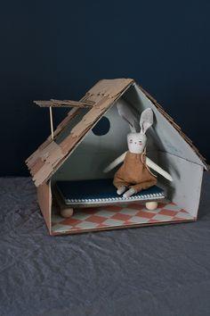 Mer Mag: Make a Cardboard Cottage For Bitty Bunny Benjamin
