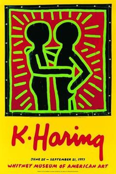 'Whitney Museum of American Art poster' (199) - Keith Haring