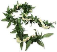 Pikake Maile Lei made of silk. Perfect for tropical wedding and as a keepsake.