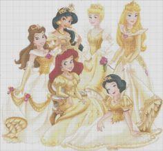 Free Cross Stitch Patterns To Print | ... : Disney Princess Cross Stitch Pattern - Digital Delivery