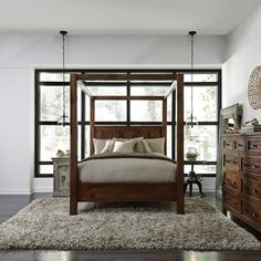 Shop our Kosas California King Wood Canopy Bed Frame sale. The influence of transitional furniture is reflected in our Anat California King Wood Canopy Bed Frame.