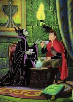 Long before the Maleficent movie, Disney released a hilarious book called My Side of the Story where Maleficent and Aurora both told their respective sides of the story with some great illustrations. Dark Disney, Disney And More, Disney Love, Disney Magic, Maleficent Movie, Sleeping Beauty Maleficent, Disney Sleeping Beauty, Malificent, Disney Villains