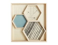 E-boutique lovecreativepeople.com | Set de 4 plateaux 'Geometric' House Doctor