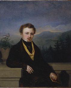 Bild:  Georg Friedrich Kersting - Bildnis eines Herrn mit Buch