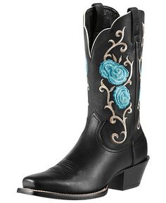 Ariat Rosebud Embroidered Cowgirl Boots - Snip Toe