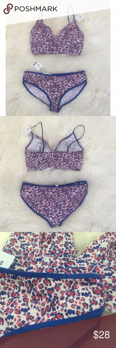 NWT UO Bralette/Panty Set - Leopard/Animal Print Brand new with tags no flaws! Smoke free pet friendly Urban Outfitters Intimates & Sleepwear