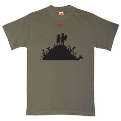 Banksy T Shirt - Blur - Olive / 2XL