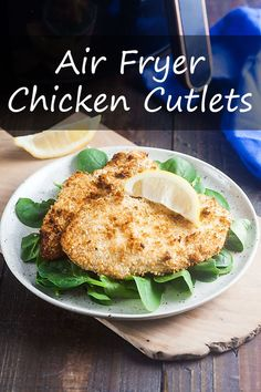 Learn how to make perfectly crispy chicken cutlets at home in your Air Fryer! #chicken #airfryer #chickencutlets via @cookthestory