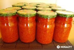 Erdélyi zakuszka Diabetic Recipes, Diet Recipes, Hungarian Recipes, Preserves, Mason Jars, Yummy Food, Canning, Meat, Desserts
