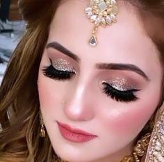 Bridal Makeup Images, Bridal Eye Makeup, Natural Wedding Makeup, Bridal Makeup Looks, Makeup Geek, Eyeshadow Makeup, Beauty Makeup, Pretty Zinta, Pakistani Bridal Makeup