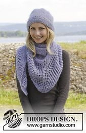 Ravelry: 158-5 - Lavender Kiss Hat pattern by DROPS design free magyar 2ply 50g
