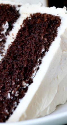 Unbelievable Chocolate Cake ~ Moist (unbelievably so!), dense with chocolate flavor but with a perfectly light and tender cake crumb, and with the perfect balance of sweet and rich chocolate Cake Unbelievable Chocolate Cake Brownie Desserts, Mini Desserts, Just Desserts, Delicious Desserts, Dessert Recipes, Healthy Desserts, Layer Cake Recipes, French Desserts, Best Cake Recipes