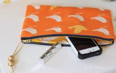 Zippered Clutch Sewing Tutorial - girl. Inspired.