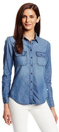 $69, Calvin Klein Jeans Denim Shirt. Sold by Amazon.com. Click for more info: https://lookastic.com/women/shop_items/67216/redirect