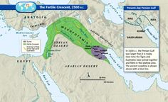 Maps for helping to understand Middle East conflicts. The fertile crescent, the cradle of civilization